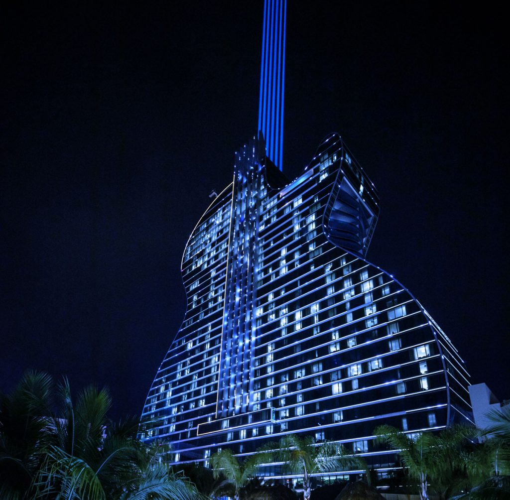 Hard Rock Hotel & Casino will light up blue for World Autism Month.