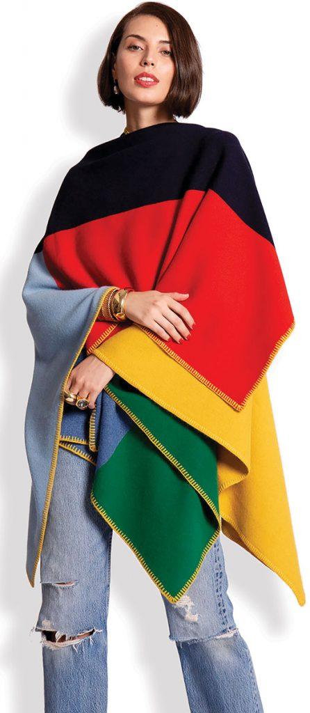Classic colorblock wrap ($698), Frances Valentine