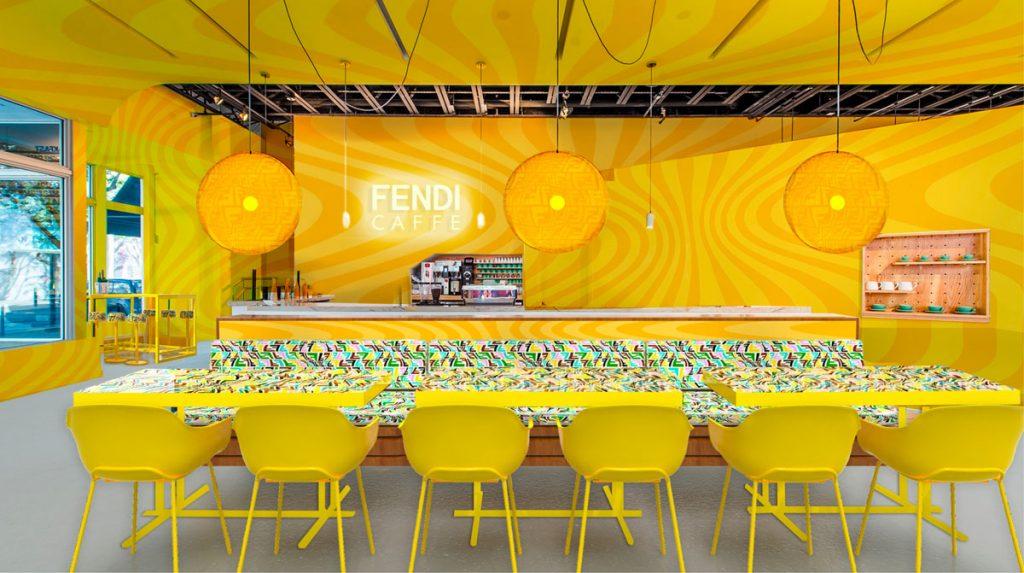 Fendi Caffe at the Miami Design District. Courtesy of Fendi