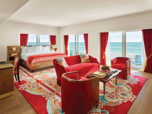 Imperial Suite Bedroom, Faena Hotel Miami Beach, Photo by Nik Koenig