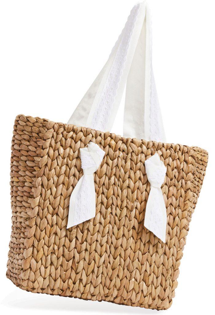 Petite Isla Bahia Lace Sand handbag ($265), Pamela Munson