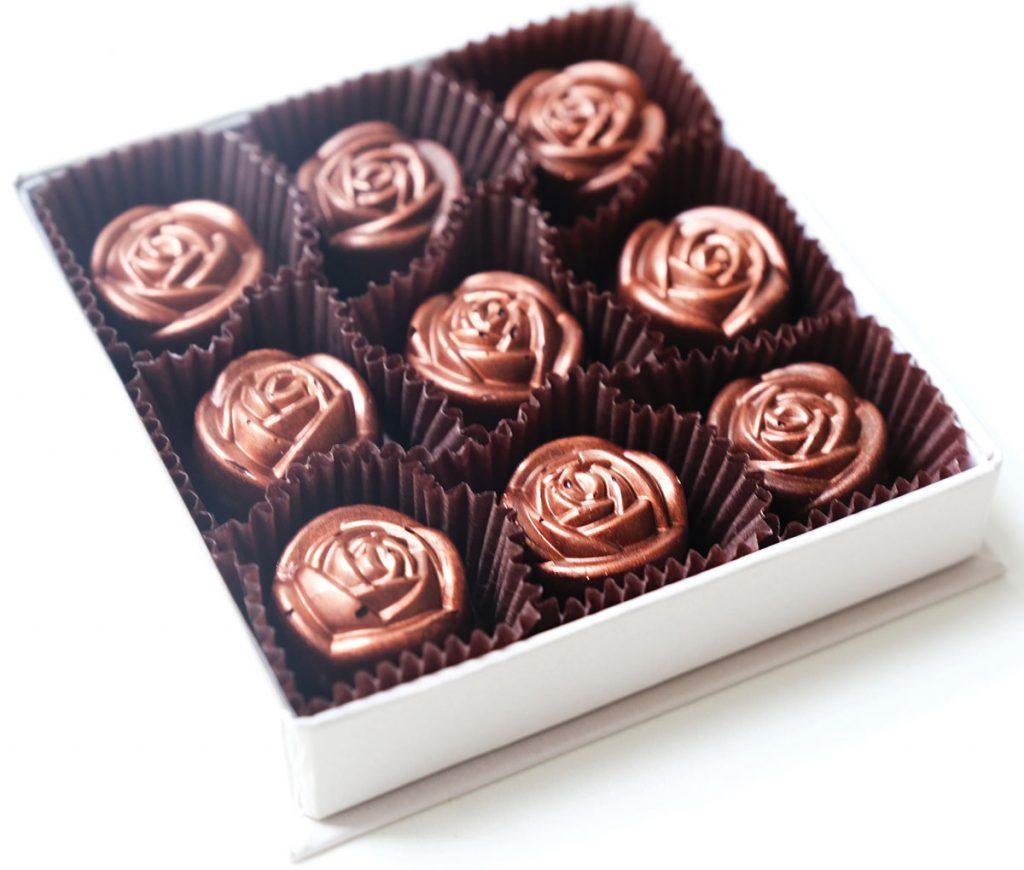 Petite deluxe box of Nutella Roses ($18), Garcia Nevett Chocolatier de Miami
