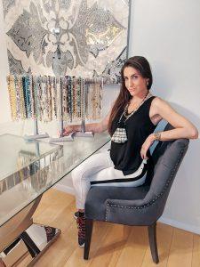 Ashley Finestone, founder of Miami Mask Chains