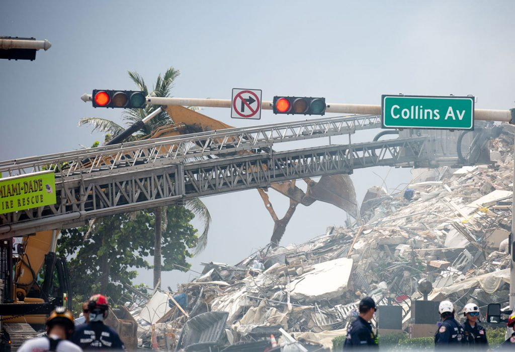 Champlain Towers in Surfside, Photo by Key Biscayne Independent:Tony Winton, courtesy of Support Surfside