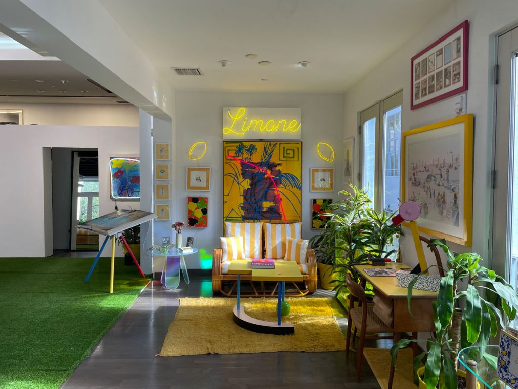 The OFFICE x Thrush Holmes in the Miami Design District, on view to September 19