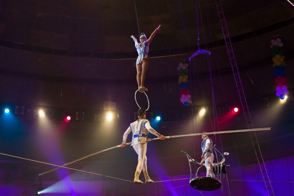 Haunted Circus Miami's aerialists