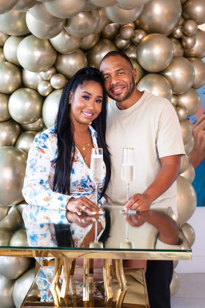 Miami couple Laurence McMillon and Alysse Richardson hosted friends for an ice cream social at Oasis Bar, a Wynwood Parlor ice cream outpost. Photography by Jerry Rabinowitz