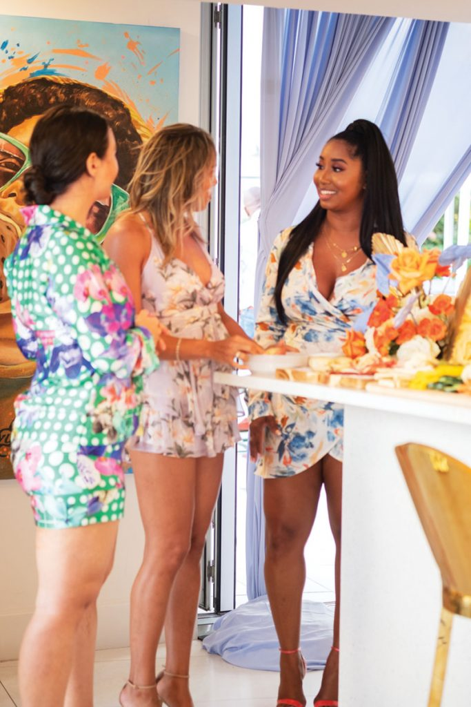 Miami couple Laurence McMillon and Alysse Richardson hosted friends for an ice cream social at Oasis Bar, a Wynwood Parlor ice cream outpost. _XE34455