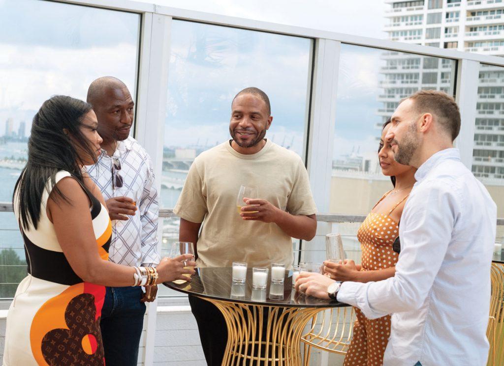 Tiffany and Jay Spence, Laurence McMillon, and Patricia and Dr. Richard Samperisi at Oasis Bar