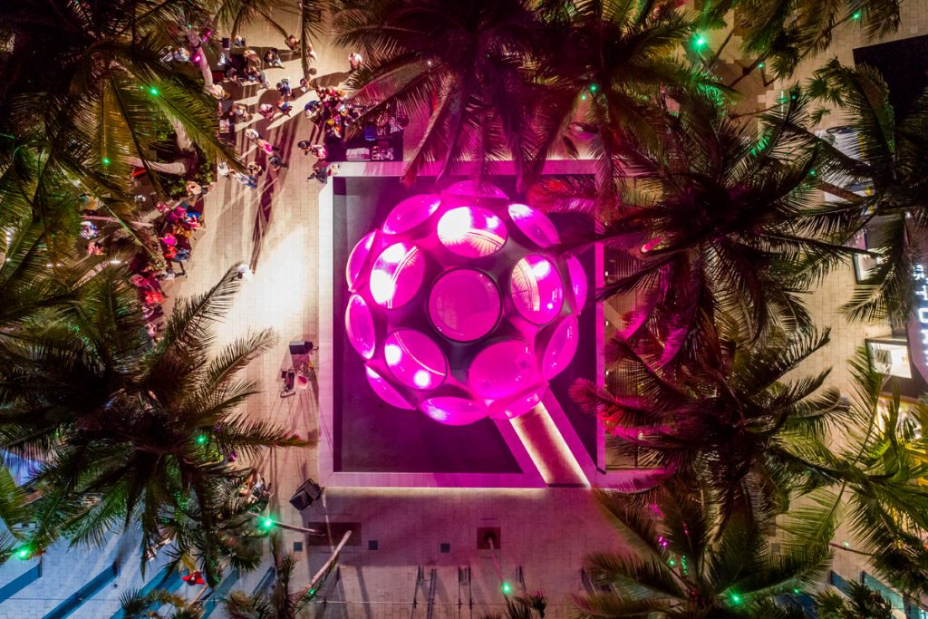 The Pink Dome Lighting & Dance Ceremony. Photo courtesy of the Miami Design District