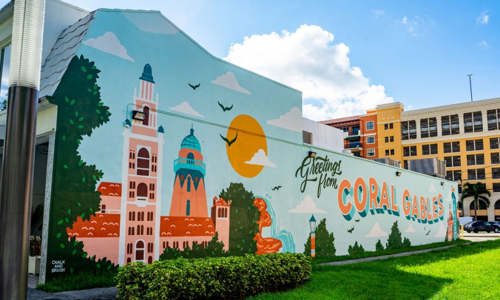 """""""Greetings from Coral Gables"""" at McBride Plaza Photo courtesy of the City of Coral Gables"""